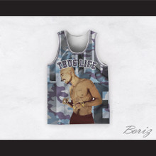 Tupac Shakur 12 Thug Life Blue Camouflage Basketball Jersey