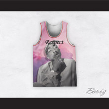 Tupac Shakur 12 Respect Pink Clouds Basketball Jersey