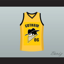 Gotham Rogues Hines Ward Basketball Jersey Yellow Stitch Sewn