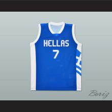 Greece Vassilis Spanoulis 7 Basketball Jersey Stitch Sewn Any Player
