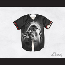 Snoop Dogg 19 Smoke Black Baseball Jersey