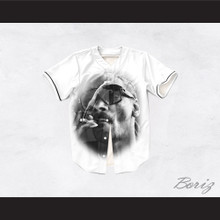 Snoop Dogg 19 Smoke White Baseball Jersey