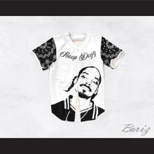 Snoop Dogg 55 Westside White and Black Bandana Sleeves Baseball Jersey