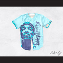 Snoop Dogg 55 Westside Light Blue Baseball Jersey