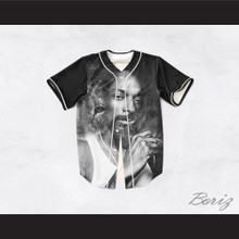 Snoop Dogg 99 Smoke Cloud Black Lion Baseball Jersey