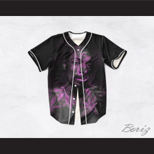 Snoop Dogg 99 Smoke Cloud Black Purple Cannabis Baseball Jersey