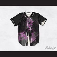 Snoop Dogg 99 Smoke Cloud Black Purple Cannabis Baseball Jersey