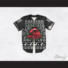 Santa Claws Christmas Black Baseball Jersey