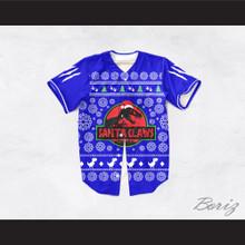 Santa Claws Christmas Blue Baseball Jersey
