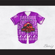 Santa Claws Christmas Purple Baseball Jersey