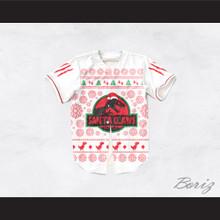 Santa Claws Christmas White Baseball Jersey