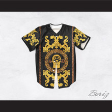 Snoop Dogg 05 Italian Style Black Baseball Jersey