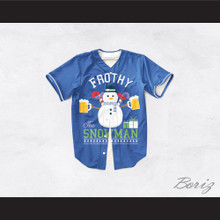 Frothy The Snowman Christmas Blue Baseball Jersey