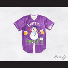 Frothy The Snowman Christmas Purple Baseball Jersey