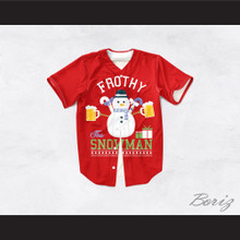 Frothy The Snowman Christmas Red Baseball Jersey