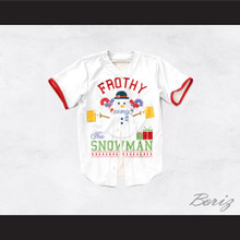 Frothy The Snowman Christmas White Baseball Jersey