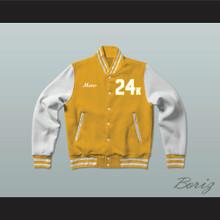 Hooligans 24 K Gold and White Varsity Letterman Jacket-Style Sweatshirt