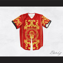 Snoop Dogg 05 Italian Style Red Baseball Jersey