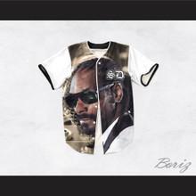 Snoop Dogg 15 Tuxedo Microphone Close Up Baseball Jersey