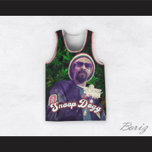 Snoop Dogg 12 Rasta Style Cannabis Basketball Jersey