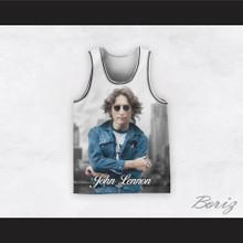 John Lennon 12 Cityscape Basketball Jersey