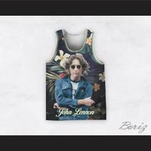 John Lennon 12 Tropical Flowers Basketball Jersey