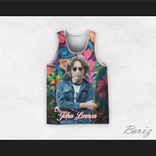 John Lennon 12 Hawaiian Flowers Basketball Jersey