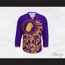The Notorious B.I.G. Italian Style Purple Hockey Jersey