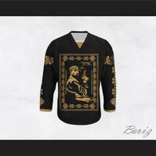 Tupac Shakur 11 Italian Style Black Hockey Jersey