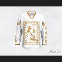 Tupac Shakur 11 Italian Style White Hockey Jersey