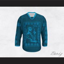 Tupac Shakur 11 Italian Style Teal Hockey Jersey