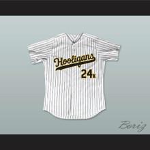 Mars 24K Hooligans White Pinstriped Baseball Jersey