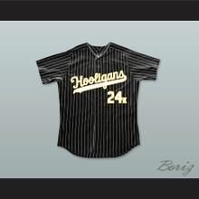Mars 24K Hooligans Black Pinstriped Baseball Jersey