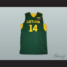 Jonas Valanciunas 14 Lietuva Lithuania Basketball Jersey Any Player