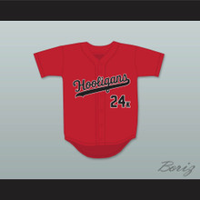 Mars 24K Hooligans Red Baseball Jersey