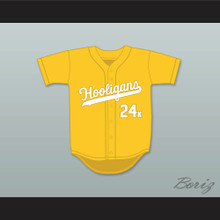Mars 24K Hooligans Yellow Baseball Jersey