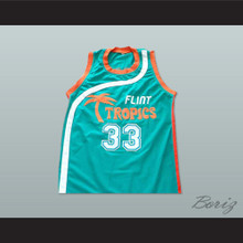 Jackie Moon 33 Flint Tropics Basketball Jersey Semi-Pro Team Teal