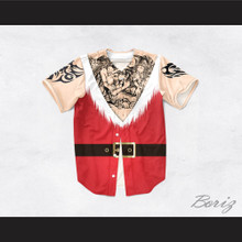 Santa Claus Tunic Tattoo Chest Baseball Jersey