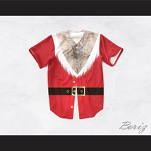 Santa Claus Tunic Hairy Chest Baseball Jersey