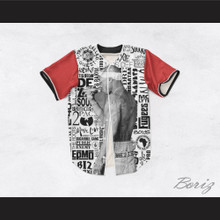 Tupac Shakur 16 Old School Hip Hop Logos White Baseball Jersey