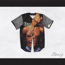 Tupac Shakur 16 Tribute Gray Sleeves Baseball Jersey