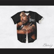 Tupac Shakur 16 Tribute Black Baseball Jersey