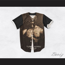 Tupac Shakur 16 Tribute 1971-1996 Black Baseball Jersey