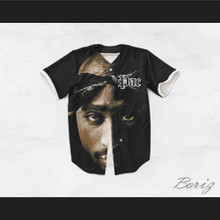 Tupac Shakur 16 Tribute Close Up Baseball Jersey