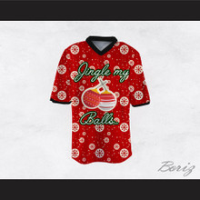 Jingle My Balls Christmas Themed Red Football Jersey