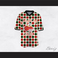 Jingle My Balls Christmas Themed Checkered Football Jersey