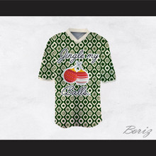 Jingle My Balls Christmas Themed Green and White Football Jersey