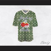 Jingle My Balls Christmas Themed Green and White Football Jersey