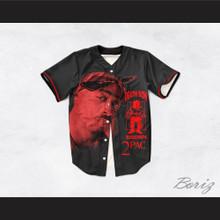 Tupac Shakur 13 Killuminati Death Row Black Baseball Jersey