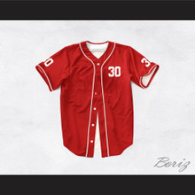 Benny 'The Jet' Rodriguez 30 Red Dye Sub Baseball Jersey